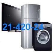 Срочный Ремонт  холодильников, стиральных машин, телевизоров 21-420-24